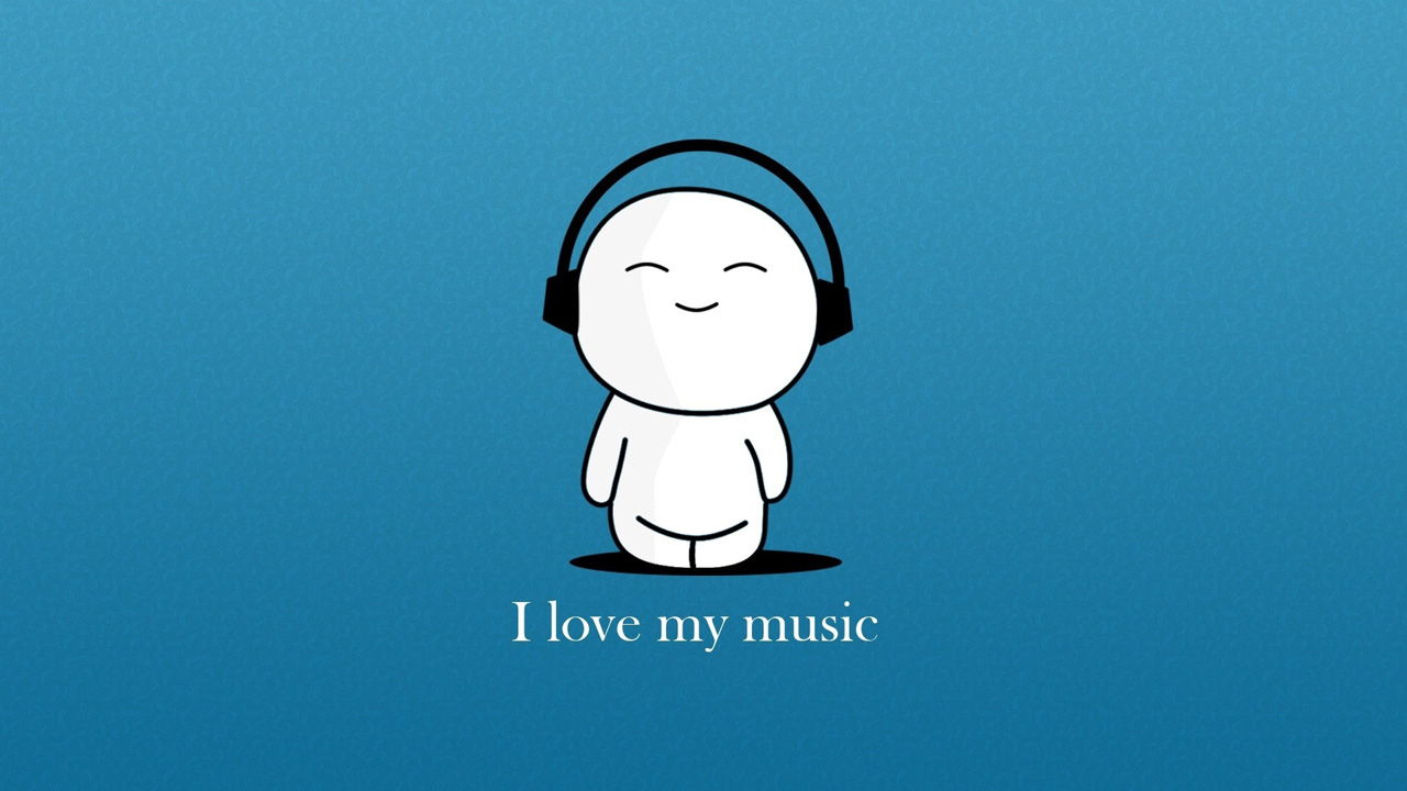 I love my music Wallpapers HD 1280x720